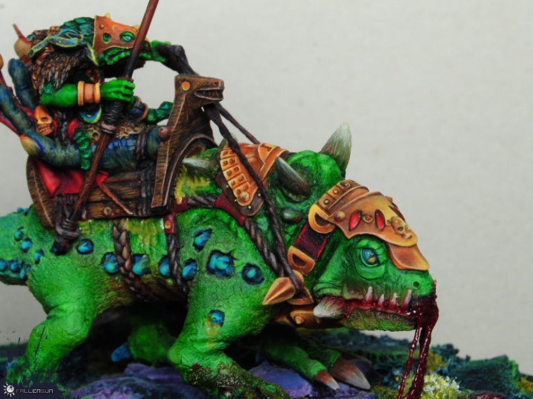 Warhammer - Lizardmen - BSB Saurian Ancients - t9a