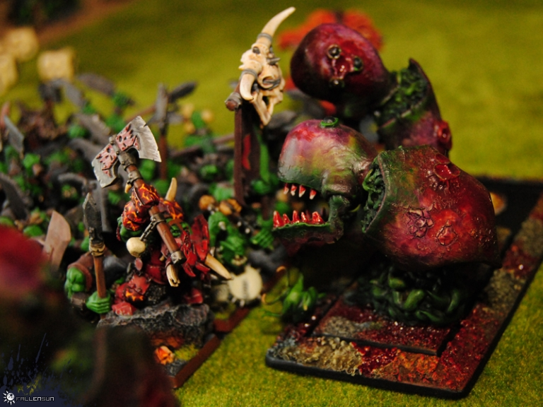 Warhammer - Daemons of Chaos - Beasts of Nurgle - Pestilent Beasts - t9a - Orcs and goblins - Hobby Realm