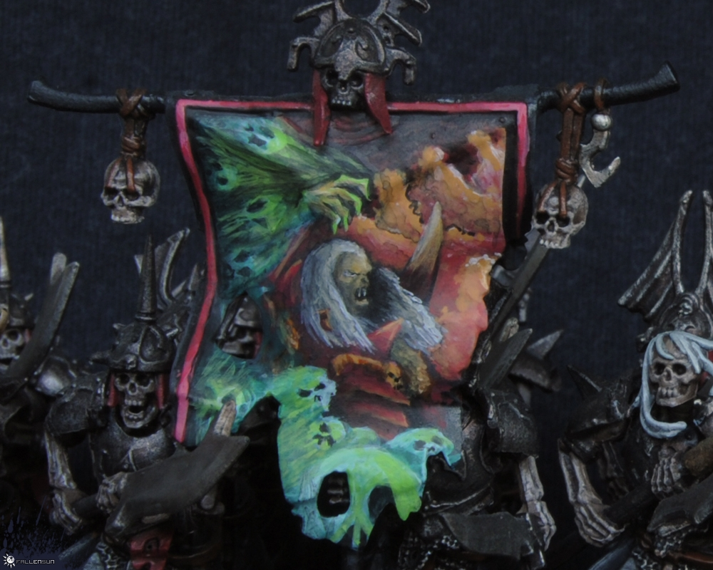 Warhammer - Vampire Counts - Grave Guard Banner - Vampire Covenant - t9a