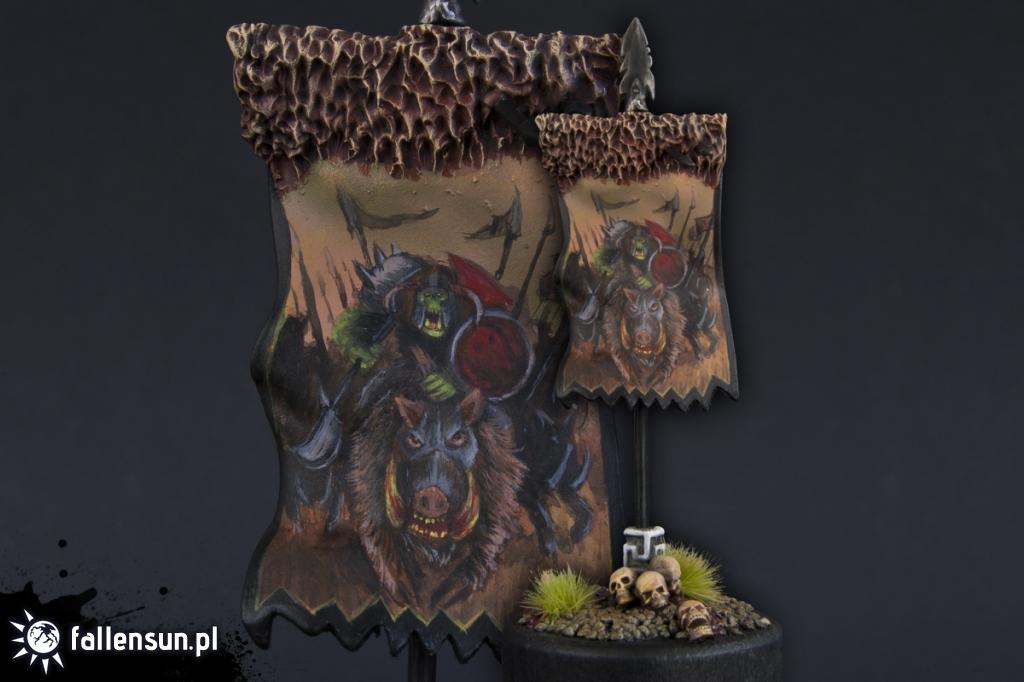 Banna of da Boar Boyz - Warhammer - Orc and Goblins - Boar - Boyz - 6th Edition - WFB
